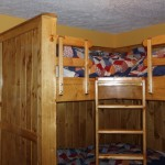 Built in four person bunk bed