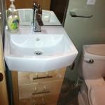 Custom mini bath maple vanity