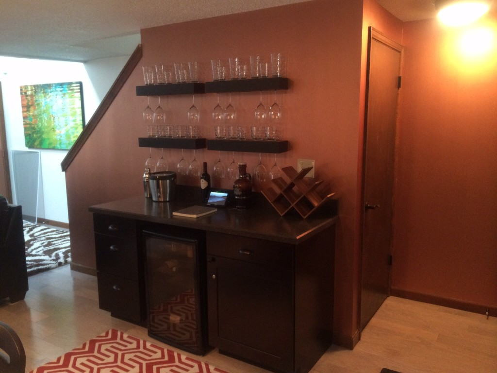 Copper bar wall