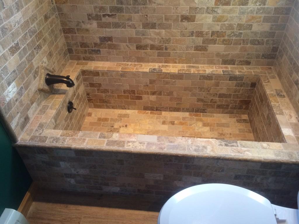 Tiled tub