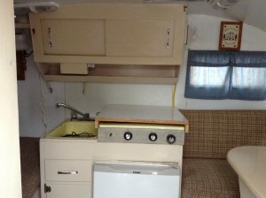 Before- interior of scotty camper