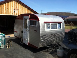 After restoration- Scotty camper