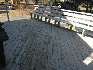 Deck before composite decking