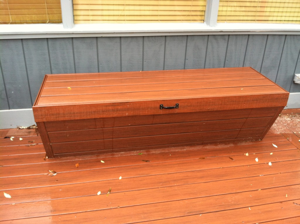 Composite matching deck box bench